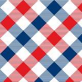 Modelo de la guinga rojo y azul Textura del Rhombus/de los cuadrados para - la tela escocesa, manteles, ropa, camisas, vestidos,  libre illustration