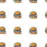 Modelo de la hamburguesa Fotografía de archivo