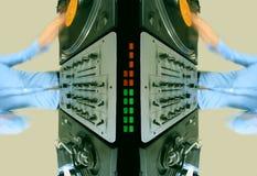 Modelo de la hembra cobarde DJ Imagen de archivo libre de regalías