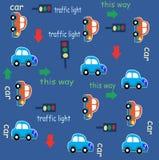 Modelo de la historieta de la diversión del tráfico de coche Foto de archivo libre de regalías