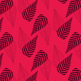 Modelo de la hoja en fondo rojo Modelo inconsútil Textura de la impresión Diseño de la tela Fotos de archivo libres de regalías