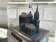 Modelo de la iglesia aquisgrán imagen de archivo