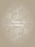 Modelo de la invitación Foto de archivo