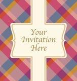 Modelo de la invitación Fotografía de archivo