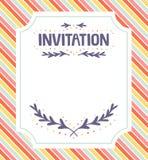 Modelo de la invitación Fotos de archivo libres de regalías