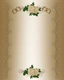 Modelo de la invitación de la boda Fotografía de archivo libre de regalías