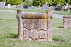 Modelo de la lápida mortuaria Imagenes de archivo