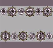 Modelo de la lila con las mandalas Fotos de archivo libres de regalías