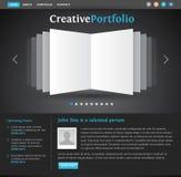 Modelo de la lista del diseño de Web Fotografía de archivo