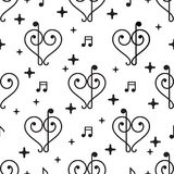 Modelo de la música del amor del vector libre illustration