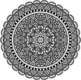 Modelo de la mandala blanco y negro Imagen de archivo libre de regalías