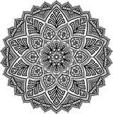 Modelo de la mandala blanco y negro Imagen de archivo