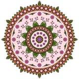 Modelo de la mandala del círculo Imagen de archivo