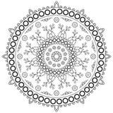 Modelo de la mandala del círculo Fotografía de archivo