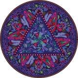 Modelo de la mandala del hippie Fotografía de archivo