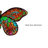 Modelo de la mariposa Foto de archivo libre de regalías