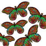 Modelo de la mariposa Imagen de archivo