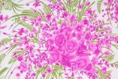 Modelo de la materia textil de la tela con el ornamento floral para el fondo Fotos de archivo libres de regalías
