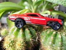 Modelo de la miniatura del coche del coche de carreras Foto de archivo