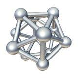 modelo de la molécula 3d Imágenes de archivo libres de regalías