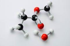 Modelo de la molécula de la química orgánica Imagen de archivo libre de regalías