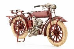 Modelo de la motocicleta del estaño fotografía de archivo