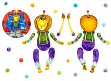 Modelo de la muñeca del papel del león del circo Recortes para los niños imagen de archivo