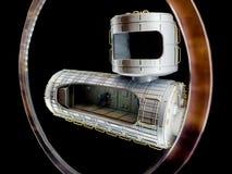 Modelo de la nave espacial imagenes de archivo