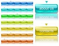 Modelo de la navegación del Web ilustración del vector