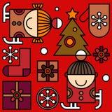 Modelo de la Navidad Imagenes de archivo