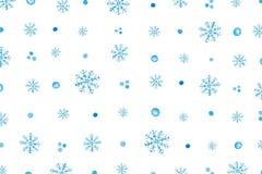 Modelo de la Navidad con los copos de nieve azules imágenes de archivo libres de regalías