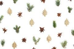 Modelo de la Navidad en el fondo blanco fotografía de archivo libre de regalías