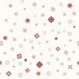 Modelo de la Navidad o del Año Nuevo con los copos de nieve libre illustration