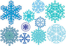 Modelo de la nieve del invierno Fotos de archivo libres de regalías