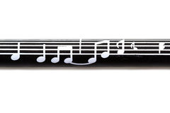 Modelo de la nota de la música Fotos de archivo