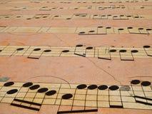 Modelo de la nota musical Fotos de archivo libres de regalías
