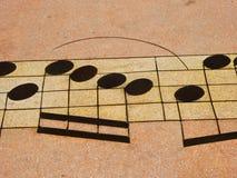 Modelo de la nota musical Imagen de archivo libre de regalías