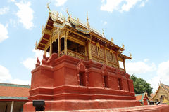 Modelo de la pagoda en el norte de Tailandia Imagen de archivo libre de regalías