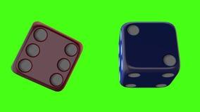 Modelo de la pantalla 3d del verde del juego del casino libre illustration