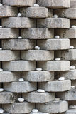 Modelo de la pared de piedra con la roca blanca Fotos de archivo libres de regalías
