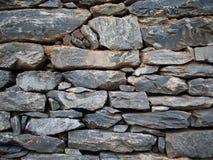 Modelo de la pared de piedra de la pizarra gris marrón decorativa Fotografía de archivo