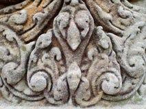 Modelo de la pared de piedra tallada medieval en Prasat Hin Muang Tam, templo del Khmer en Tailandia Foto de archivo