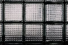 Modelo de la pared del bloque de cristal Fotografía de archivo