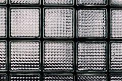Modelo de la pared del bloque de cristal Foto de archivo libre de regalías