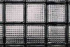 Modelo de la pared del bloque de cristal Imagenes de archivo