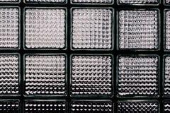 Modelo de la pared del bloque de cristal Fotos de archivo