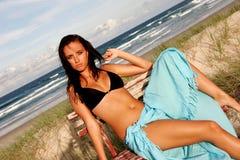 Modelo de la playa Fotos de archivo