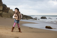 Modelo de la playa Foto de archivo libre de regalías