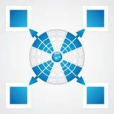 Modelo de la presentación Imagen de archivo libre de regalías