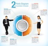 Modelo de la presentación con los hombres y las mujeres de negocios libre illustration